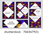 abstract vector layout... | Shutterstock .eps vector #706567921