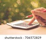 soft focus retro woman hand... | Shutterstock . vector #706572829