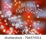 abstract christmas background... | Shutterstock .eps vector #706574311