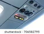 airplane cabin interior  detail.... | Shutterstock . vector #706582795