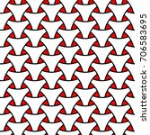 seamless wickerwork triangle...   Shutterstock .eps vector #706583695