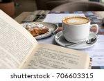 still life details  cup of...   Shutterstock . vector #706603315