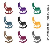 rocking chair.old age single... | Shutterstock .eps vector #706604011