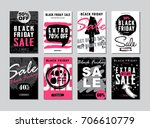 set of templates banners for... | Shutterstock .eps vector #706610779