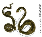 snake cobra tattoo style cobra...   Shutterstock .eps vector #706614805
