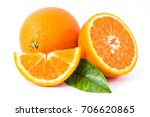 orange  slice  leaf green | Shutterstock . vector #706620865