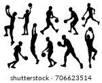 basketball player silhouette.... | Shutterstock .eps vector #706623514