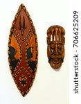 African War Wooden Shield And...