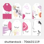 hand drawn creative tags.... | Shutterstock .eps vector #706631119