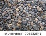 wall built from stones put... | Shutterstock . vector #706632841