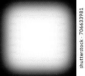 halftone frame background or... | Shutterstock .eps vector #706633981