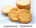 cracker cookie dessert is...   Shutterstock . vector #706644535