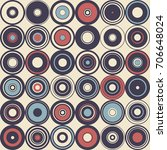 vintage pattern with circle... | Shutterstock . vector #706648024