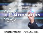 automation concept as an... | Shutterstock . vector #706653481