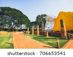 temple of ayutthaya history of... | Shutterstock . vector #706653541