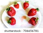 fresh organic natural red... | Shutterstock . vector #706656781