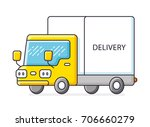 delivery truck isolated | Shutterstock .eps vector #706660279