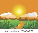 sunset landscape | Shutterstock . vector #70666171