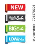side tag new  black friday  big ... | Shutterstock .eps vector #706670305