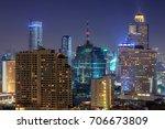 bangkok view with skyscraper in ... | Shutterstock . vector #706673809