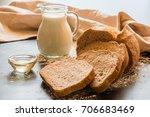 bread  milk  oil and flour  | Shutterstock . vector #706683469
