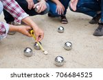 hands of people playing... | Shutterstock . vector #706684525