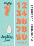 numbers balloon  kid's birthday ... | Shutterstock .eps vector #706688695