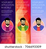 set of colorful vector banners...   Shutterstock .eps vector #706693309