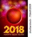 happy 2018 new year flyer.... | Shutterstock .eps vector #706693909