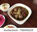 ghormeh sabzi   persian stew  a ... | Shutterstock . vector #706696225