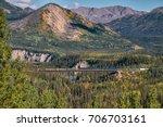 riley creek train trestle...   Shutterstock . vector #706703161