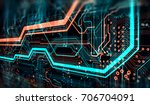 abstract technological... | Shutterstock . vector #706704091