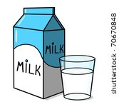 Glass Of Milk Cartoon