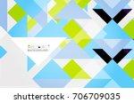 triangle pattern design... | Shutterstock .eps vector #706709035