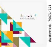 triangle pattern design... | Shutterstock . vector #706714321