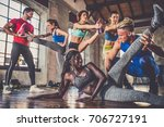 multi ethnic group of people... | Shutterstock . vector #706727191