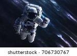 astronaut. deep space image ... | Shutterstock . vector #706730767