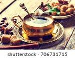 coffee in the oriental style  | Shutterstock . vector #706731715