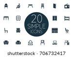 vector illustration set of... | Shutterstock .eps vector #706732417