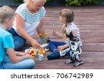 robotics class in summer in the ... | Shutterstock . vector #706742989