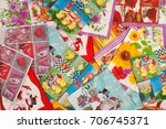 a lot of paper napkins. view... | Shutterstock . vector #706745371