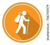 hiking icon illustration... | Shutterstock .eps vector #706745479