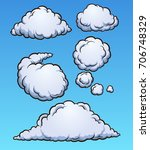 cartoon clouds. vector clip art ... | Shutterstock .eps vector #706748329