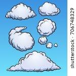 cartoon clouds. vector clip art ... | Shutterstock .eps vector #706748329