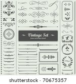 vector set  calligraphic design ... | Shutterstock .eps vector #70675357