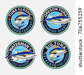 tuna fishing logos. vector... | Shutterstock .eps vector #706755259