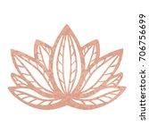 metallic tattoo rose gold foil... | Shutterstock .eps vector #706756699