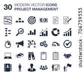 set of 30 quality icons about... | Shutterstock .eps vector #706759555