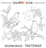 spring garden composition. a... | Shutterstock .eps vector #706759669