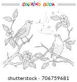 spring garden composition. a...   Shutterstock .eps vector #706759681